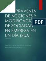 COMPRAVENTA DE ACCIONES Y MODIFICACIÓN DE SOCIADAD EN