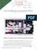 Cuarta Revolución Industrial _Industria 4.0 _ Idea ingeniería