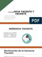 HERENCIA YACENTE Y VACANTE EXPO