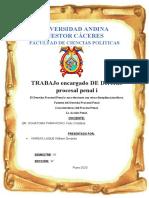 TRABAJO ENCARGADO DE DERECHO PROCESAL PENAL I