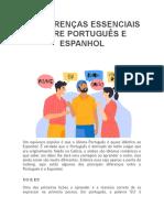 10 DIFERENÇAS ESSENCIAIS ENTRE PORTUGUÊS E ESPANHOL