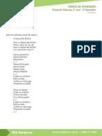 BANCO DE ATIVIDADES Presente Ciências 3 ano - 3 bimestre Avaliação