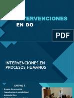 INTERVENCIONES DESARROLLO ORGANIZACIONAL