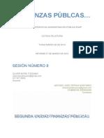 RELATORIA No. 8 Finanzas Públicas
