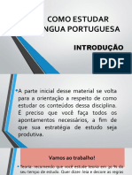 COMO ESTUDAR LÍNGUA PORTUGUESA - 2019