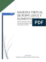 MAQUINA VIRTUAL DE PUPPY LINUX Y ELEMENTARY OS