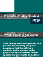 Role of a Quality Analyst