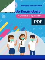 PROGRAMA SEG BÁSICO IMPRESINDIBLE SEGUNDO GRADO SECUNDARIA
