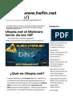 Utopia.net el Malware terror de los ISP • HEFIN