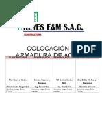 PETS-SSO-009 COLOCACIÓN Y ARMADURA DE ACERO.docx