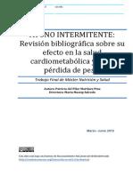 AYUNO INTERMITENTE REVISION BIBIOGRAFICA SOBRE SU EFECTO EN LA SALUD