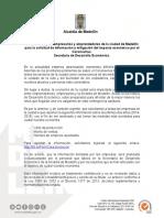 Comunicado Solicitud de Información_Secretaría de Desarrollo Económico