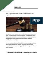 Qual é a importância do direito tributário para a sua empresa_