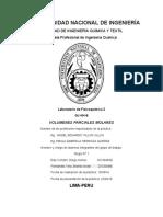 Laboratorio de Fisicoquímica 2 QU 434-B  VOLUMENES PARCIALES MOLARES