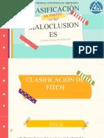 CLASIFICACIONES DE MALOCLUSIONES