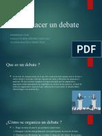 Como hacer un debate