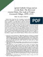 Italian Immigrant Catholic Clergy