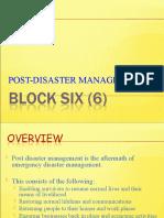 BLOCK 6 post disaster management