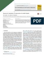 2. NUMERICAL SIMULATION OF EVAPORATION OF VOLATILE LIQUIDS