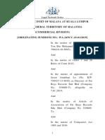 MOHAMED ZAHID YON MOHAMED FUAD v. JASON JONATHAN LO & ORS [2019]1 LNS 343 or [2020]1 AMR 744
