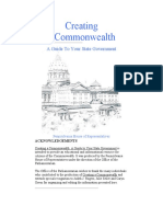 Creating a Commonwealth a guide to the state govt of PA