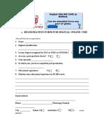 registration form @ CME