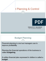 Budget Planning  Control