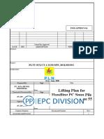 Lifting Plan for PC Spun Pile 400 10 UP Crawler Crane 55 Ton