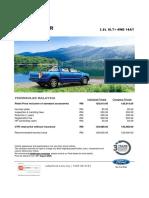 2020 FORD RANGER 2.0L XLT+ 4WD 10AT Peninsular MY