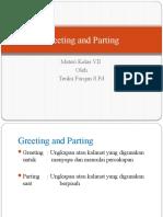 Greeting and Parting kelas VII.pptx
