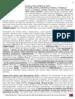 PREDICA L. (JUNIO 2019) Agus. HABLEMOS DE, PROTECCIÓN, APOYO, GARANTÍA, FUERZA, Y MURALLA
