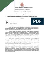 Exame de Comunicação Oral e Escrita 2020