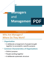 CHAPTER 01 MANAGERS AND MANAGEMENT