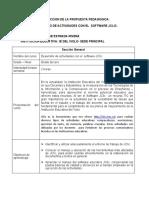 DISEÑO Y CONSTRUCCION DE LA PROPUESTA PEDAGOGICA