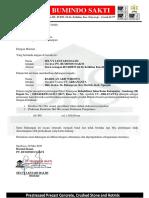 292 SURAT DUKUNGAN CV. ARKANANTA Jalan Batas Kabupaten - Sambeng (Bojonegoro)