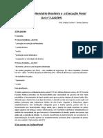 Material - O Sistema Penitenciario Brasileiro e a Execucao Penal