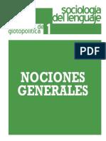 Cuaderno Glotopolitica 1 (Nociones generales)