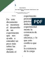 Informe campo electrico final (Fisica Electrica)