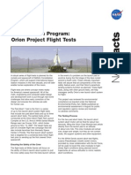 NASA Facts Constellation Program Orion Project Flight Tests