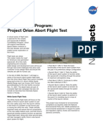 NASA Facts Constellation Program Project Orion Abort Flight Test