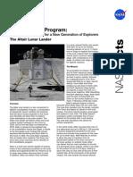 NASA Facts Constellation Program the Altair Lunar Lander