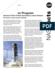NASA Facts Constellation Program The Ares I Crew Launch Vehicle 2009
