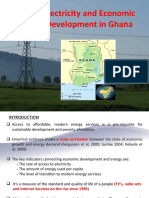 Electricity and Economic Dev't in Ghana