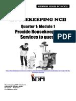 HOUSEKEEPING 11_Q1_Mod1_ProvideHousekeepingServicestoGuest_version3
