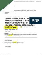 Carlos García, Martín Greco, La ardiente aventura. Cartas y documentos inéditos de Evar Méndez, director del periódico Martín FierroREVISADO.pdf