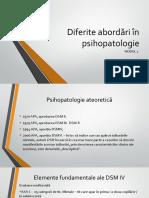 Modul 1 - Diferite Abordări În Psihopatologie
