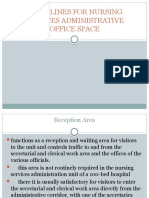 GUIDELINES FOR NURSING SERVICES ADMINISTRATIVE OFFICE SPACE