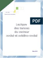 ITS Lexique Secteur Medico Social 03 2012