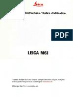 Leica Manual M6 J