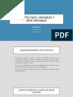 Costos fijos, variables y semi - variables